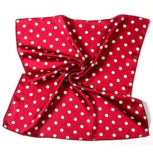 Dot Lady Cuello Bufanda Chales de Seda Pequeño Cuadrado Banda para el Cabello Bolsa Bufandas Pañuelo Flaco Pañuelo Estampado Mujeres Bandana