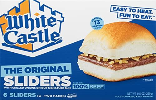 White Castle The Original Slider, 100% Beef, 6Count Hamburgers, Microwaveable 9.5 Oz. Box (Frozen)