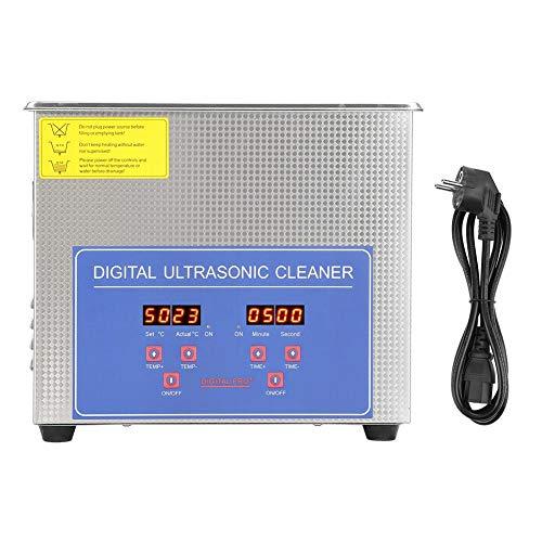 lyrlody- Ultraschallreiniger, 2 l, Ultraschall-Reinigungsgerät aus Edelstahl, mit digitalem Timer zum Reinigen von Schmuck und anderen empfindlichen Gegenständen.