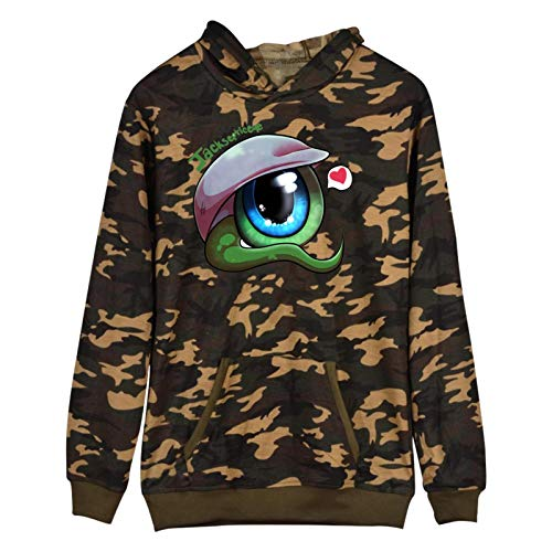 955 Jac-ksepticeye 3D Printing Graphic Hoodie Cool and Realistic Camouflage Pullover Hooded Sports Sweatshirt