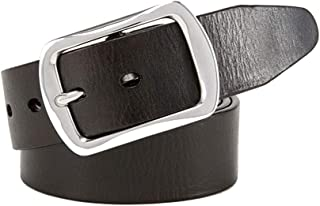 Men Belt Genuine Leather Dress Belt with Single Prong Buckle Business Casual (Size : S)