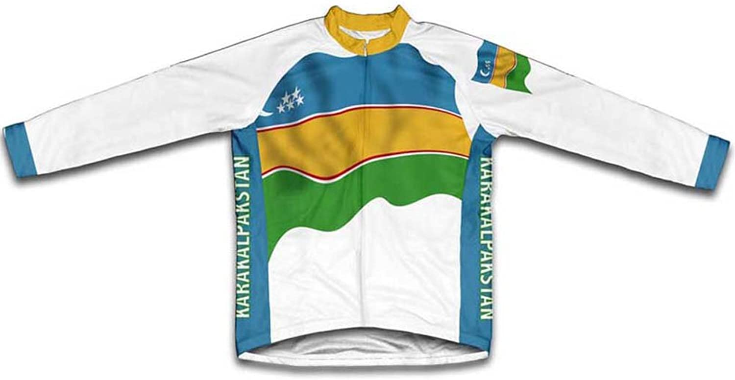 Karakalpakstan Flag Long Sleeve Cycling Jersey for Women