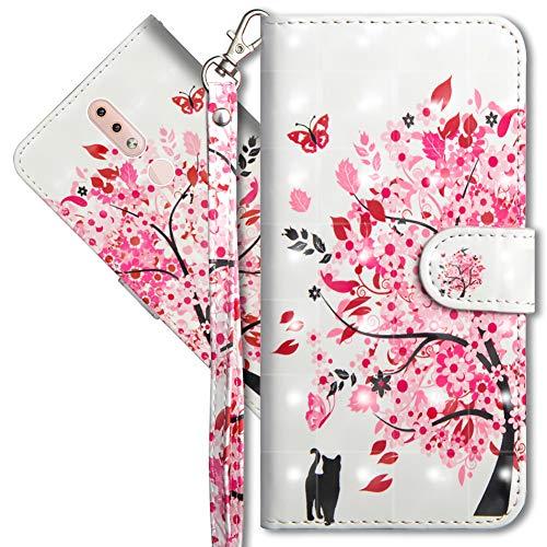 MRSTER Nokia 4.2 Handytasche, Leder Schutzhülle Brieftasche Hülle Flip Hülle 3D Muster Cover mit Kartenfach Magnet Tasche Handyhüllen für Nokia 4.2. YX 3D - Tree Cat