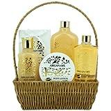 GLoss - Coffret De Bain Pour Femme - Collection Luxury Argan Oil - Panier en osier - Huile Argan