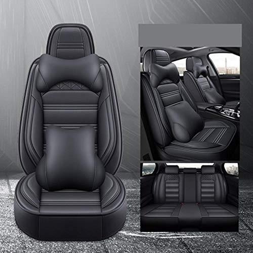 Coprisedili per Auto in Pelle Set per Mitsubishi Pajero 4 2 Sport Outlander XL ASX Montero Accessori Lancer 9 10 Coprisedili Carisma, Black Luxury,