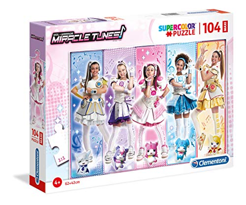Clementoni- Supercolor Puzzle-Miracle Tunes-104 Pezzi Maxi, Multicolore, 23736