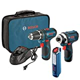 Bosch Power Tools Drill Kit - CLPK22-120 - 12-Volt 2-Tool Combo Kit (Drill/Driver and Impact Dr…
