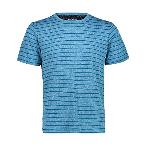 CMP T- Shirt A Righe Con Tecnologia Dry-Ve Homme, Ottanio Mel, 48