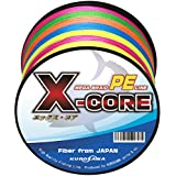 KUROSAWA PEライン X-CORE (5色マルチカラー 500m(4編), 1号(18lb/8.16kg))