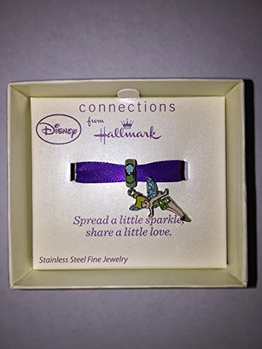 Connections from Hallmark Disney Stainless Steel Tinkerbell Crystal Dangle Charm