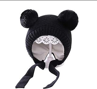JJSPP Infant Baby Girls Boys Solid Hat Winter Warm Accessories Autumn Hat Cap Earmuffs Beanies