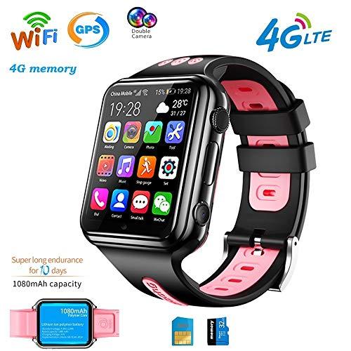 4G GPS Wifi Relojes Inteligentes Para Niños Reloj Deportivo Impermeable Para Teléfono Bluetooth Tracking Locator Despertador Chat De Voz Anti-Perdida Compatible Para Android E Ios Regalos ,Rosado