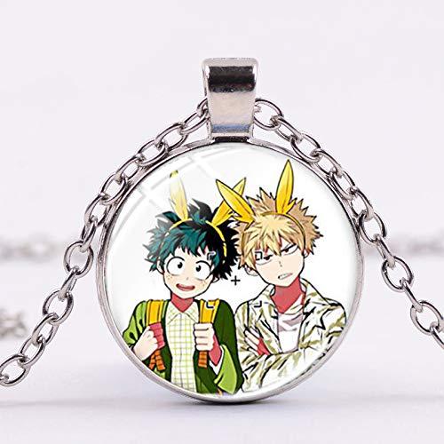 Collar de Anime My Hero Academia Midoriya Lzuku All Might Bakugo Katsuki Todoroki Shoto Figuras de juguete collares colgantes