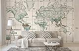3D Fotomural Premium Papel Pintado No Tejido Lujoso Wallpaper Volver a el mundo antiguo el viejo americano Mapamundi TV Nórdico apaisado murales papel para pared foto decorativo