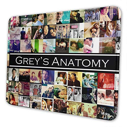 Grey's Anatomy Computer Laptop Mouse Pad Mousepad Anti-Slip Mouse Mat for Desktops Office and Home 8.3 X 10.3 in
