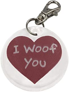 Finnex Reflectors Dog Collar Charm Reflector - I WOOF You Heart   High Visibility Safety Reflector Provides Night Time Safety While Running or Walking with Your Dog