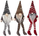 Navidad Santa GNOME BESTZY 3PCS Mini Gnomo Navideño de Felpa Muñeca de Tela de...