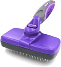 Hertzko Self Cleaning Slicker Brush – Gently Removes Loose Undercoat, Mats and Tangled..