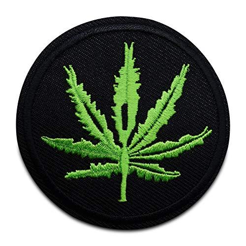 Finally Home Marihuana Gras Parche termoadhesivo para planchar | Weed Patches, motivos de planchado