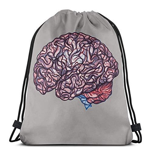 Almost-Okay-Shop Brain ing - Bolsa de deporte con cordón, color rosa