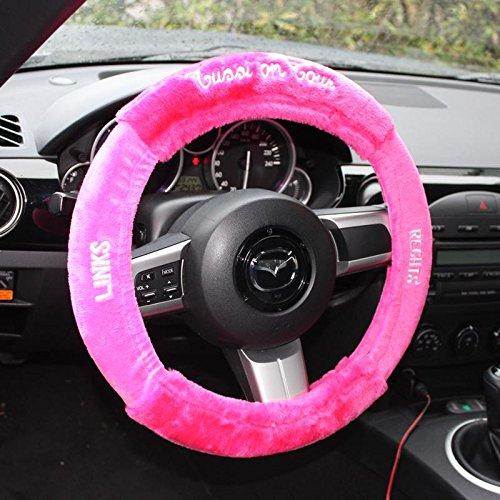 Close Up Tussi on Tour plüschiger Lenkradbezug in pink/Navigationshilfe für Girls