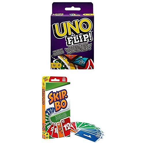 UNO Flip und Skip-BO Kartenspiele Spielsammlung