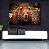 GJQFJBS Abstract Polar Bear Minimalismo nórdico HD Print Wall Artist Home Decoration Picture Canvas Painting A3 50x70cm