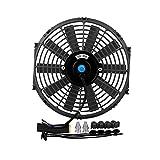 Accesorios para el coche Reemplazo del radiador del coche del ventilador de enfriamiento del tanque de agua de 12 pulgadas for la modificación del automóvil de disipación de calor del tanque de agua J