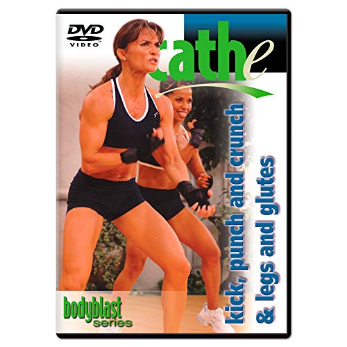 Cathe Friedrich Body Blast Kickboxing Kick, Punch & Crunch and Legs & Glutes Workout DVD - Two Workouts on One DVD