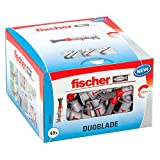 fischer 545677 caja de tacos autoperforantes, gris y rojo