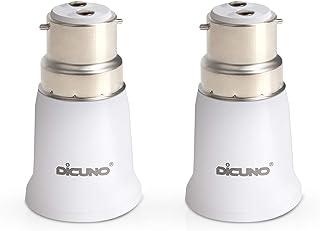 DiCUNO B22 to E27 Socket Adaptor, Bayonet to Edison Light Bulbs Converter, Max Wattage 200W, 0~250V, 165 Degree Heat Resis...