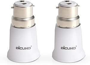 DiCUNO B22 to E27 Socket Adaptor 2-Pack, Light Bulbs Converter, Max Wattage 200W, 0~250V, 165 Degree Heat Resistant