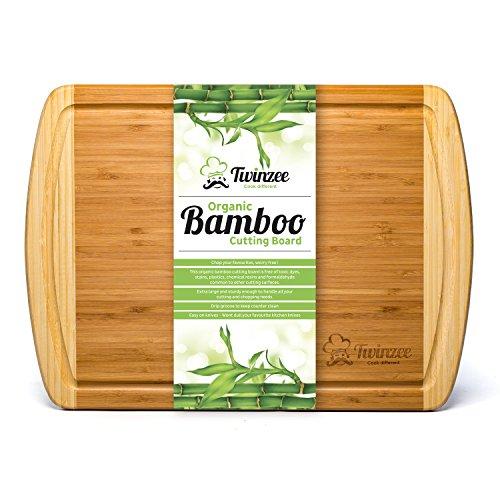 Planche à découper extra-large en Bambou 100% Bio -...