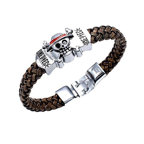 Touirch Anime Jewelry One Piece Metal Gift Wrist Band Bracelet Toy