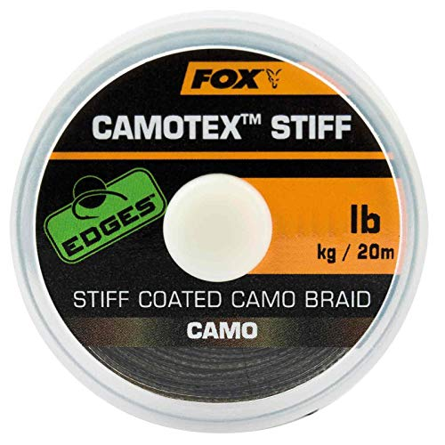 Fox Camotex Stiff Coated Camo Braid 20m - Vorfachmaterial, Tragkraft:25lbs/11.4kg