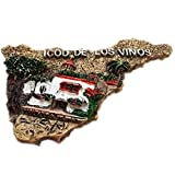 Weekinglo Souvenir Imán de Nevera Icod de los Vinos Tenerife España 3D Resina Artesanía Hecha A Mano Turista Viaje Ciudad Recuerdo Colección Carta Refrigerador Etiqueta