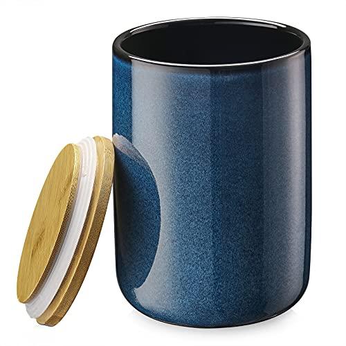 ZONESUM Kitchen Canisters Ceramic Food Storage Jar, 65 FL OZ Coffee...