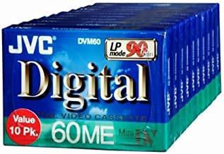 JVC MDV60ME10P Mini DV Tape (10 Pack) (Discontinued by Manufacturer)