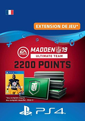 Madden NFL 19 Ultimate Team 2200 Points Pack - 2200 Points DLC | Code Jeu PS4 - Compte français