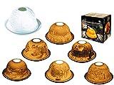 MC Trend Porzellan-Dome Light Windlicht Stimmungslicht weihnachtliche Motive Tisch-Deko Geschenk-Idee Teelichthalter ca. 12 x 7,5 cm (Domstadt) - 2