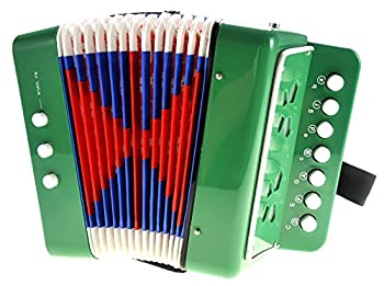PowerTRC Children s Accordion | Musical Instrument | Easy to Learn Music | Kids Instrument | Green