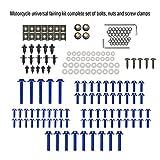 KKmoon Set di Bulloni, 194 Pezzi Bulloni per Carenatura da Moto Viti, Kit Carrozzeria Completo, Set di Elementi di Fissaggio (Blu)