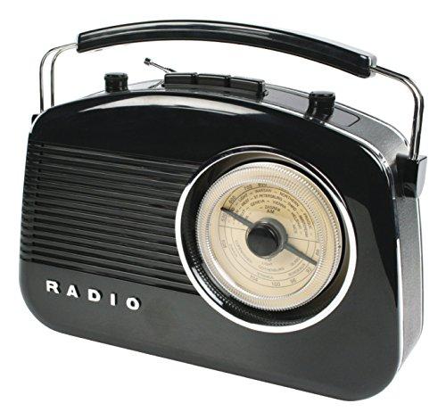 KOENIG Retrodesign UKW MW-Radio schwarz