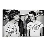 NMTYD Poster sur toile avec autographe Michael Jackson et Queen - Freddie Mercury - Décoration murale moderne pour chambre à coucher - 50 x 75 cm