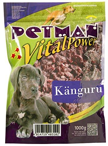 petman Vital Power Känguru, 6 x 1000g-Beutel, Tiefkühlfutter, gesunde, natürliche Ernährung für Hunde, Hundefutter, Barf, B.A.R.F.