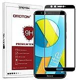 OMOTON Huawei Honor 9 Lite Verre Trempé [Couvir l'écran Complèt] [sans Bulles] Film Protection- Protecteur Ecran Noir (5.65...