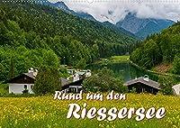 Rund um den Riessersee (Wandkalender 2022 DIN A2 quer): Eingebettet in eine atemberaubende Berglandschaft liegt dieser idyllische See ueber den Daechern von Garmisch-Partenkirchen (Monatskalender, 14 Seiten )