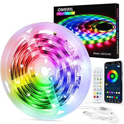 Striscia LED 6M - OMERIL Led RGB Adesive, Strisce Led...