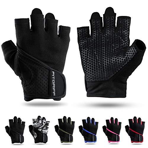 Fitgriff Trainingshandschuhe für Damen und Herren - Fitness Handschuhe ohne Handgelenkstütze für Krafttraining, Bodybuilding, Kraftsport...