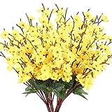 NAHUAA 4PCS Flores Artificiales Plantas Al Aire Libre Resistente a los Rayos UV Arbustos de Vegetación Arreglos Florales Falsos Interior Exterior Hogar Cocina Oficina Jardín Decoración